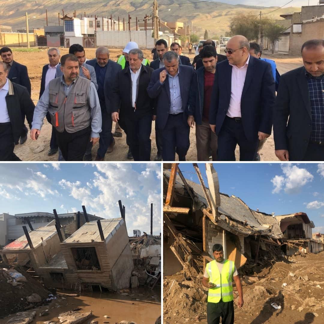 بازدید مجید فراهانی از  از روستای سیل زده ی پلدختر ( لرستان )