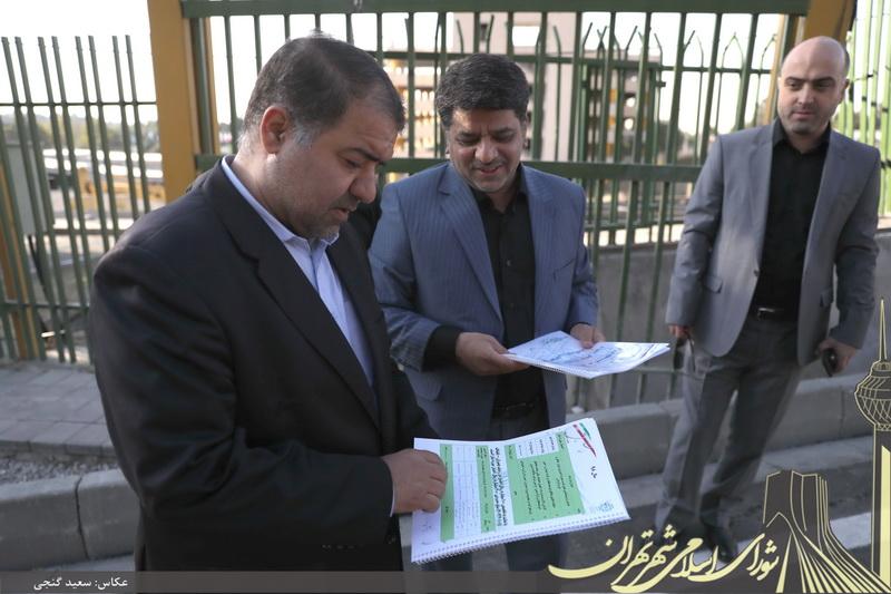 گزارش تصویری/ بازدید مجید فراهانی از پل بزرگراه شهید چمران